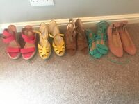 Bundle of summer shoes, size 6