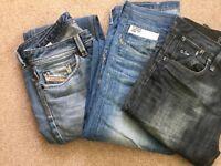 3 pairs of men's jeans