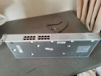 16 port rack mount fast ethernet switch. VGC TWO AVAILABLE