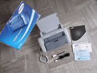 Samsung SF-360 : Plain Paper Inkjet Fax & Copier : original box, manual & leads