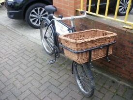 BUTCHER'S DELIVERY BAKER'S BIKE : TV FILM DISPLAY PROP FARM CAFE SHOP BISTRO PUB ADVERTISING VINTAGE