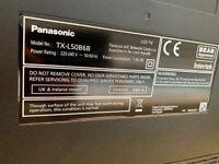Panasonic 50-inch Widescreen Full HD 1080p TV + Freesat + TV stand + anti-tip straps