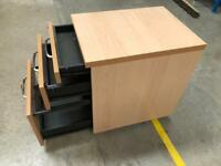 Under desk filing cabinet with wheels - excellent quality 3 available