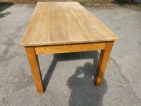 Solid Oak Handmade Dining Table
