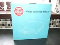 Sandwich Toaster - Argos - White - Value Toaster - New/unused, still in box