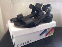 Office block heel sandals
