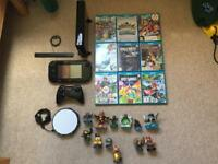 Nintendo WII U 32GB Black with games and matching Mario backpack