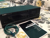 double cassette deck and copys tapes to pc