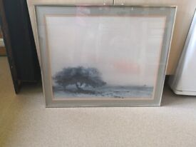Large framed retro / vintage landscape picture £5