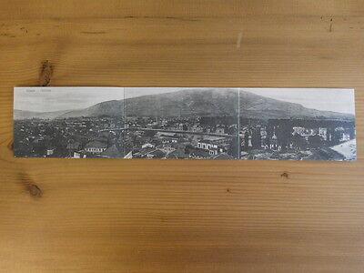 Super Panorama-Karte > 40cm Mazedonien Üsküp Skopje ~ 1915