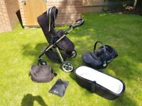 Silver cross Pioneer pram and car seat