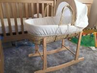 Moses basket with stand - hardly used!