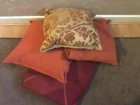 M & S cushions x3 and throw