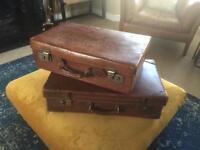Genuine Vintage Leather Suitcases