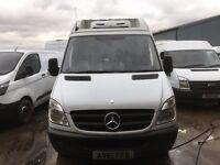 mercedes sprinter mwb fridge van.2011.new fridge compressor and regas.euro 5.one owner
