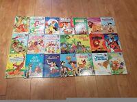 Walt Disney wonderful world of reading books x21 some vintage prints