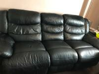 3 seater recliner and chair (manual)