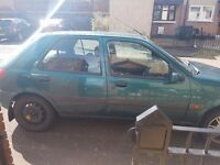 2000 Ford Fiesta 1.25 mot to January 2017