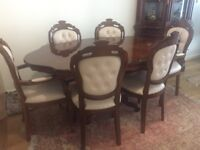 Italian Rococo Style Dining Table + 6 Chairs (V.Good condition)