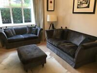 Laura Ashley sofa(s) and footstool £500 ONO
