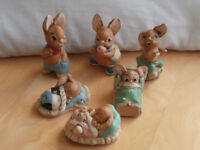 Pendelfin Rabbits - Collectable Ornaments