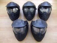 5 x PROTO PAINTBALL MASKS - EYE GOGGLE PROTECTION - PAINTBALL GOGGLES