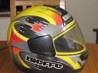 motor bike helmet.