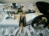 Xbox 360 20GB with Steering Wheel and Pedals