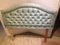 Green headboard for double bed