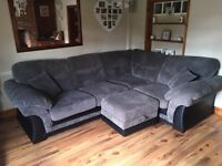 Grey corner sofa, only 4 months old, immaculate! Bought from DFS