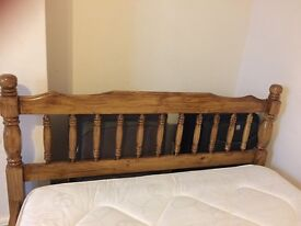 WOODEN DOUBLE BED ( standard size)
