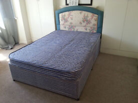 Luxury Double Bed with Mattress and Headboard