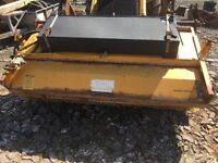Bucket brush fits on jcb 3cx and other machines