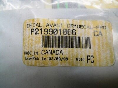 Deacl used on XP Limited Seadoo Part Number 219901066
