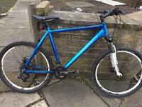 Carrera Vulcan blue mountain bike