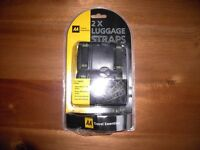"""2 x """"AA TRAVEL ESSENTIALS"""" SUITCASE / LUGGAGE HEAVY DUTY WOVEN STRAPS, BRAND NEW in ORIGINAL PACK"""