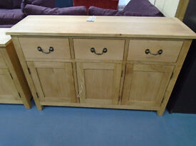 Brand New 3 Door 3 Drawer Oak Sideboard. Already Built And Can Deliver. Sizes - W:130 H:85 D:40cm.