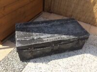 Vintage metal trunk / tool box