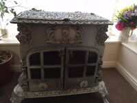 wood or coal burning Enamelled Stove (multi fuel)