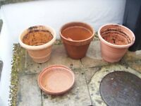 Assorted Garden Pots & Dishes