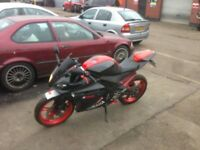 yamaha r125 with sport exhaust