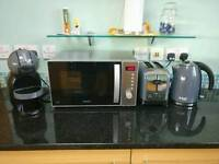 Urgent sell!! Grey set Kitchen appliances! Microwave, toaster, kettle and coffee machine!