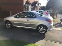 Peugeot 206cc 1.6 petrol 12 months MOT full red and black leather interior