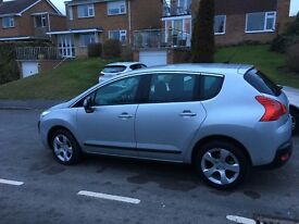 Peugeot 3008 1.6 VTI Sport. Silver. Full Service History. Excellent condition. Purchased new car.