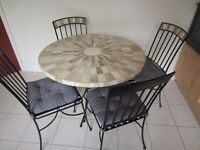 Mosaic Table and four Chairs
