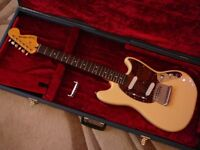 Fender Squier Vintage Modified MUSTANG Electric Guitar White superb with case & upgraded bridge