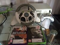 White X Box 360 Bundle in excellent working order.