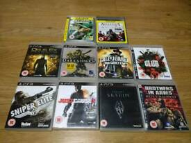 PS3 PlayStation 3 TEN TOP TITLES GAMES BUNDLE Rated PG15 UK Delivery