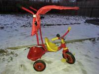 Cars tricycle with handle