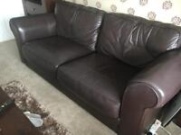 Genuine Leather Sofa Set (Harvey's)